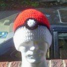 Hand Crochet Unisex Beanie - Pokemon Poke Ball Unisex