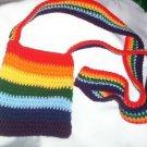 Hand Crochet Chakra Rainbow Shoulder Purse Chemo Healing Reiki Ready To SHip