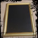 Hand Crafted Vintage Golden Masculine Scrying Mirror 10 x 12