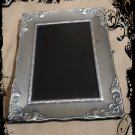 Hand Crafted Vintage Pewter Goddess Scrying Mirror 9 x 7