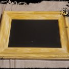 Hand Crafted Vintage Simulated Blonde Oak Scrying Mirror 6 x 8