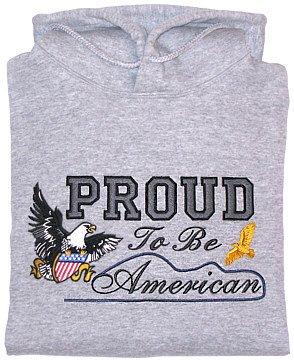 Embroidered Patriotic Eagle Sweatshirt - Sz Lrg