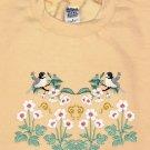Embroidered Spring Chickadees Sweatshirt -Sz Med