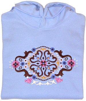 Embroidered Creative Designed Sweatshirt - Sz Sm