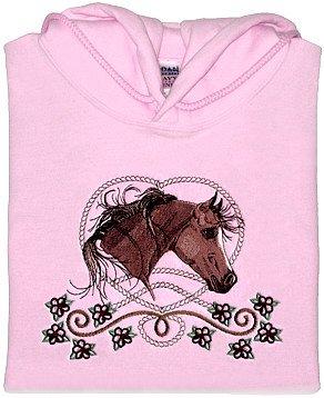 Embroidered Arabian Horse Sweatshirt -Sz Sm