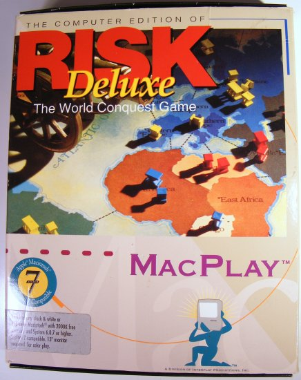 1994 RISK Deluxe Mac Play Vintage Computer Game BOXED MACPLAY