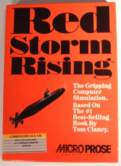 1988 MicroProse Red Storm Rising Vintage Video Game for C64 BOX BBBF20
