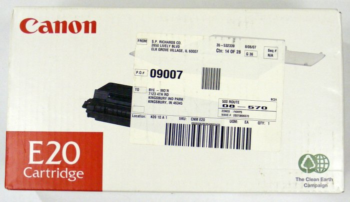 Genuine CANON E20 TONER CARTRIDGE BLACK FOR PC300 310 320K (1492A002AA) BBBF10