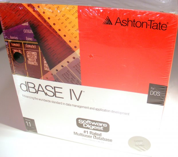 Ashton Tate dBase IV for DOS Version 1.1 New Sealed 5.25 Disks