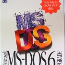"NEW Vintage Microsoft MS-DOS Version 6 Retail Upgrade 3.5"" Disks Sealed Shrink Wrapped"