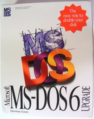 "NEW Vintage Microsoft MS-DOS Version 6 Retail Upgrade 3.5"" Disks Sealed Shrink Wrapped"