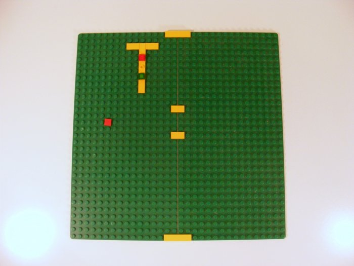 2 Each Green Baseplate 16 x 32 Dot with Square Corners 3857 B37
