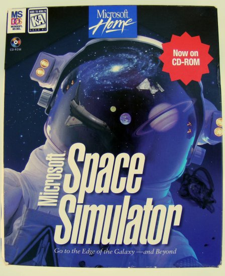 Microsoft Space Simulator CD-ROM MANUAL BOX incl Star Pilot's Guide