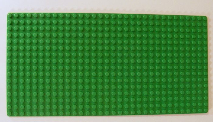 Lego Green Baseplate 16 x 32 Dot with Square Corners 3857 B39