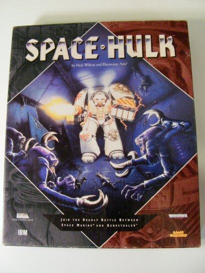 "Space Hulk 3.5"" Disks Box Manual PC Games RARE Games Workshop 1993"