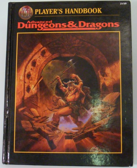 2rd Edition PLAYER'S HANDBOOK Advanced Dungeons and Dragons AD&D TSR 2159