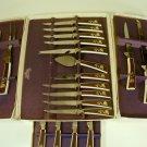 19 pc SHEFFIELD  GOLDEN PRESTIGE Cutlery Set Treasure Chest 60's