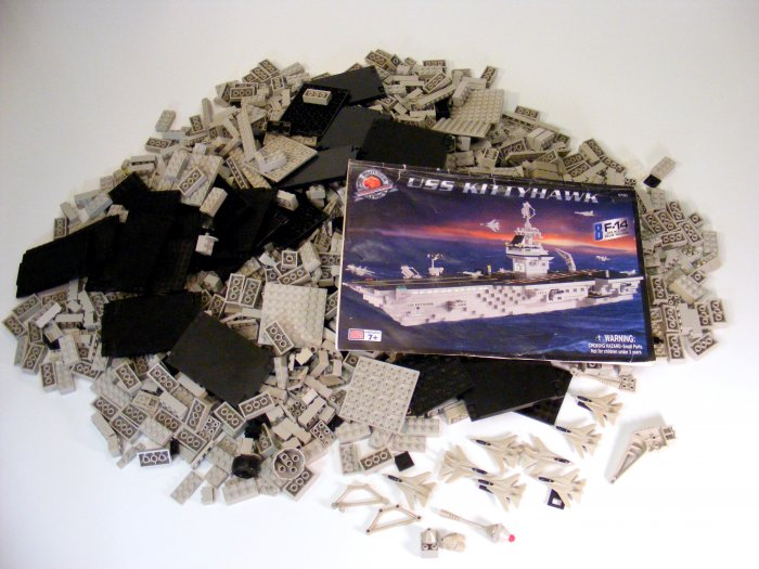 MEGA BLOKS BLOCKS PRO BUILDER USS Kitty Hawk 9780 Used