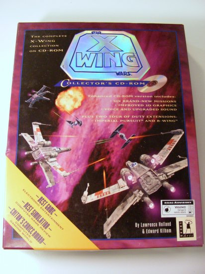 1998 Star Wars X-Wing Collectors CD-ROM LucasArts PC CD Game BOXED