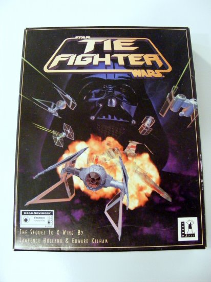 1994 Star Wars Tie Fighter Video Game  LucasArts PC 3.5 BOXED RARE