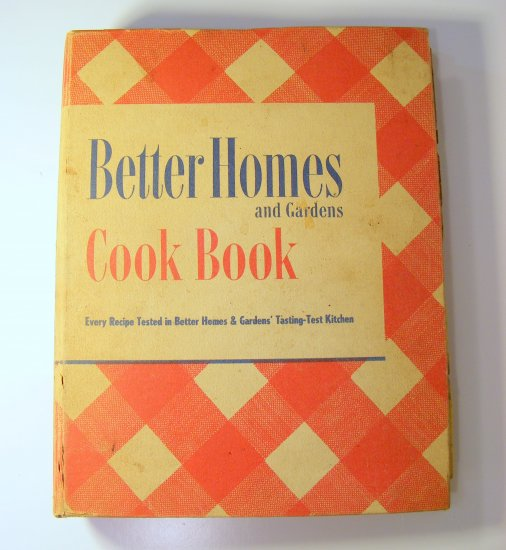 Vintage 1949 BH&G Cookbook Revised Edition Better Homes & Gardens Cook Book 20th Edition