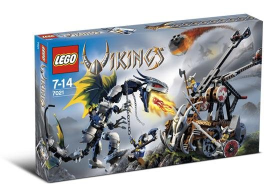 Lego Vikings 7021 Viking Double Catapult New Broken Seal 3 Minifigs