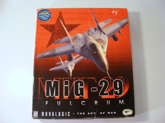 Mig-29 Fulcrum PC GAME with Original Box Win95 Novalogic Complete