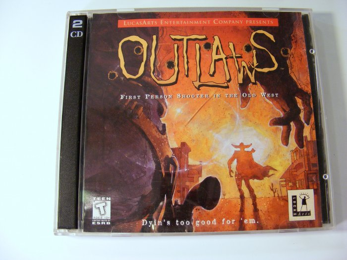 LucasArts Outlaws PC GAME with Original Jewel Case and Discs Out Laws