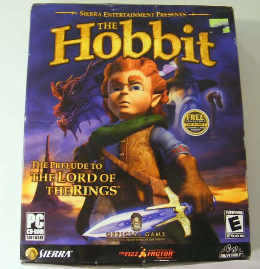 Sierra The Hobbit PC Game Box New Sealed