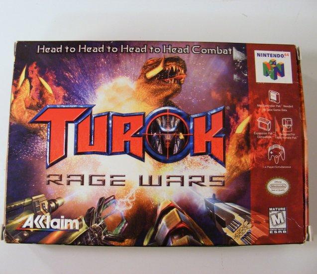 Nintendo 64 N64 Turok Rage Wars Game New in Box
