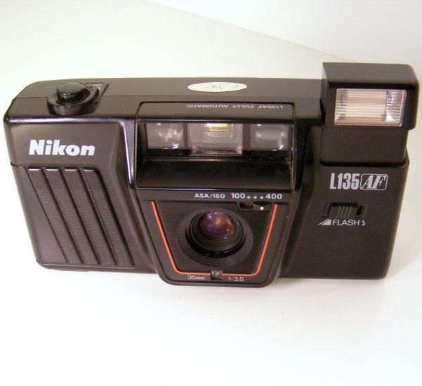 NIKON 35mm Camera L135 AF 1:3.5 Works Great
