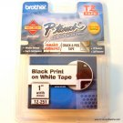 "Brother BR PT330 TZ Tape 1 PK Blk on Wht 1"" TZ251"