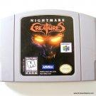 Nintendo 64 N64 Nightmare Creatures Game Cartridge