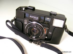 Konica Jasupin C35 AF 35mm Film Camera with Hexanon 38mm F2.8 Lens