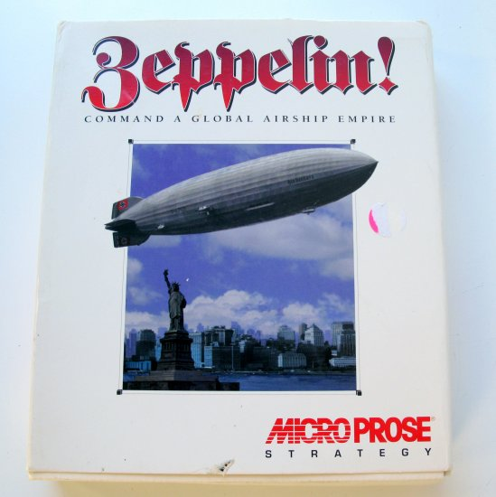 Microprose Strategy Zeppelin PC Game CD with Box and Manual