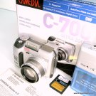 Olympus Camedia C-700 2.1 Digital Camera with Box and Extras 128mb Smart Media Card