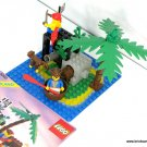 Lego 6260 Pirate Shipwreck Island Set 99% Complete with Instructions 2 Mini-Figs Parrot and Monkey