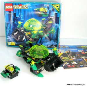 Lego 2161 AquaRaiders Aqua Dozer Set Complete with Instructions and Box - Stickers Missing
