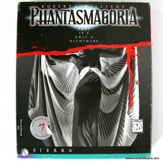 Sierra Pantasmagoria PC Game Pray It's Only a Nightmare with Box Rated M