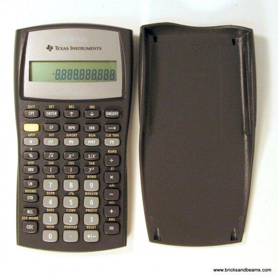 Texas Instruments TI BA II Plus Business  Calculator Used