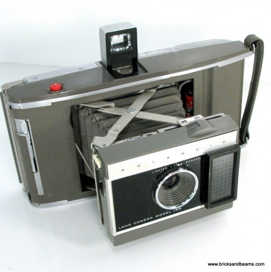 Vintage Polaroid Land Camera Model J66 Folding Land Camera