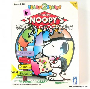 RARE Yearn2Learn Master Snoopy's World Geography PC Game Windows New