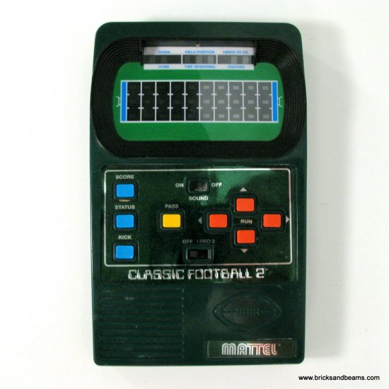 Mattel Classic Football 2 Vintage Handheld Electronic Game Works Great