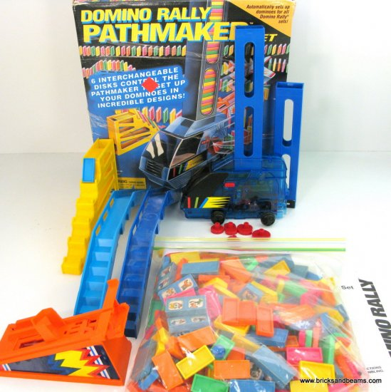 RARE Domino Rally Pathmaker Set 1994 with Domino Pathmaker but Missing Plane