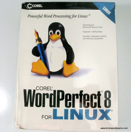 NEW Corel WordPerfect 8 for Linux Sealed Shrink Wrapped