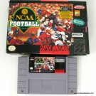 Nintendo SNES NCAA Football w Box