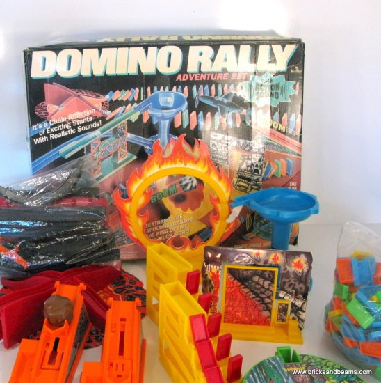 RARE Domino Rally Adventure Set Incomplete 1993 with Action Sound