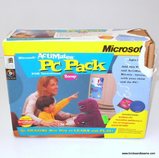 Microsoft Actimates PC Pack for Interactive Barney Sealed