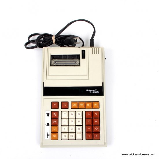 Vintage Unisonic XL-118B Printing Calculator