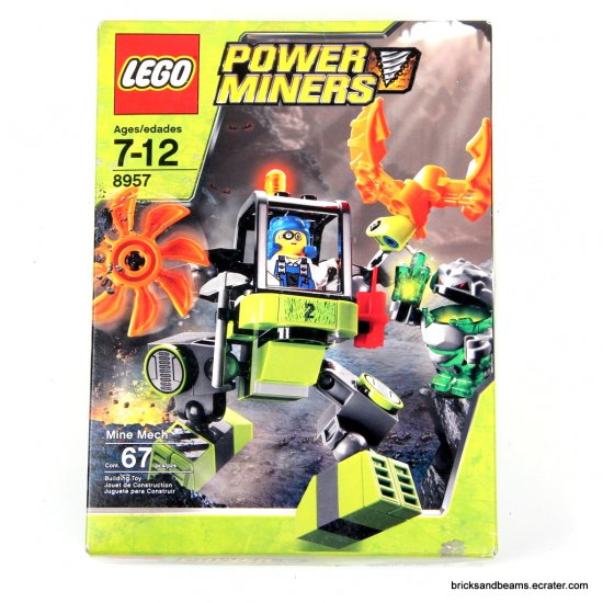 LEGO Set 8957 Power Miners Mine Mech Sealed PowerMiners